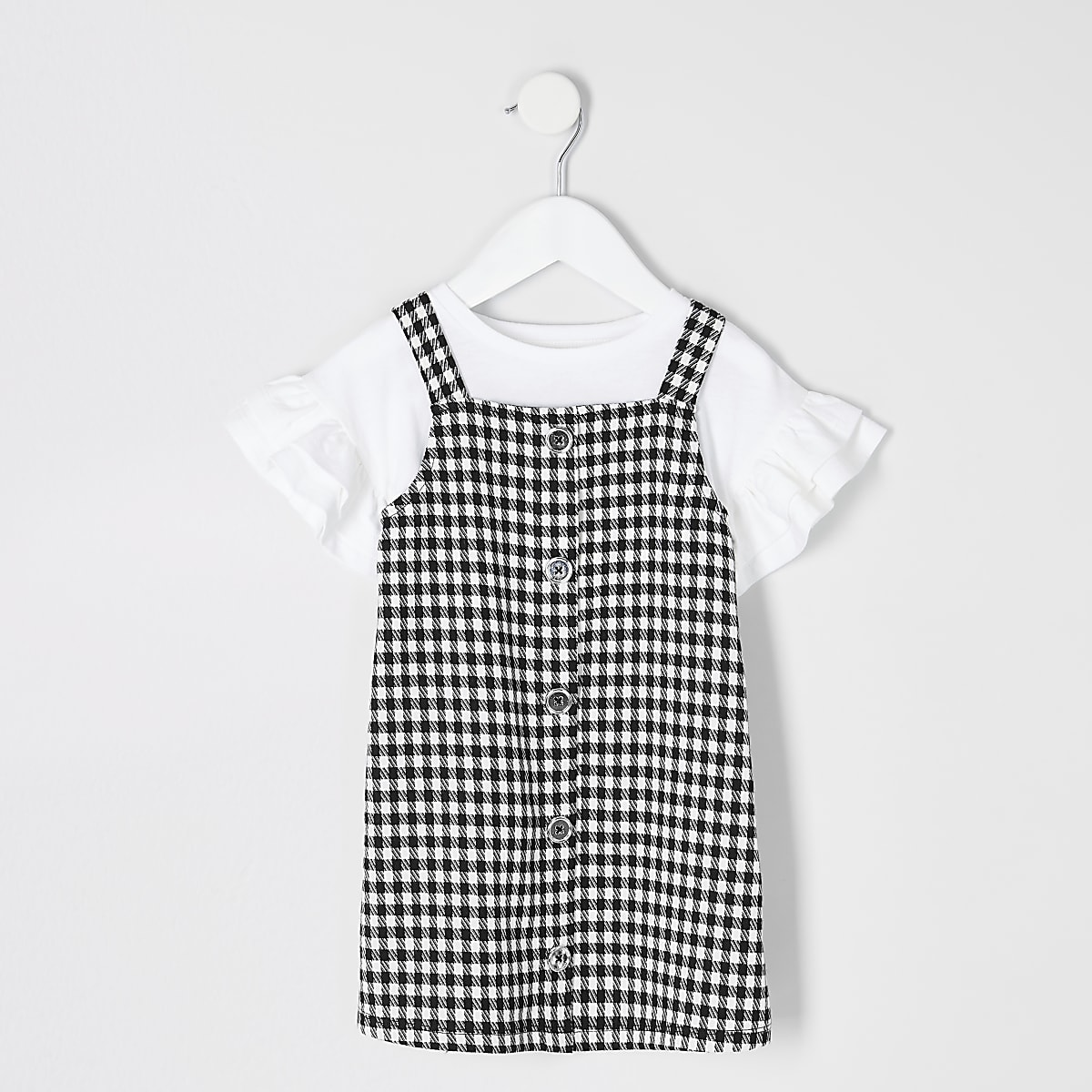 217517eded6 Mini girls black gingham pinafore outfit - Baby Girls Dresses - Mini Girls  - girls