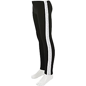 Girls RI Active black tape leggings