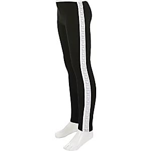RI Active – Legging noir à bande latérale pour fille