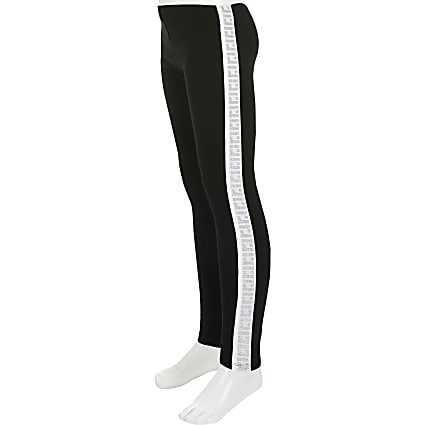 Girls RI Active black tape leggings