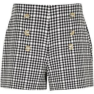 Military Shorts mit Vichy-Karos