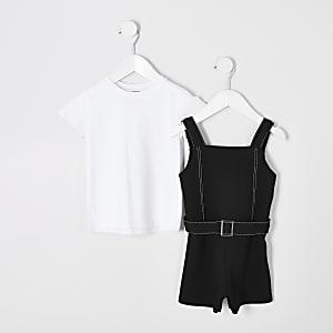 Combi-short 2 en 1 noir mini fille