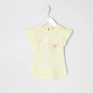 T-shirt « Limited Edition » jaune mini fille