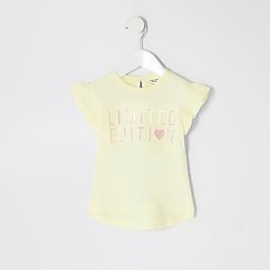 Mini - Limited edition geel T-shirt voor meisjes