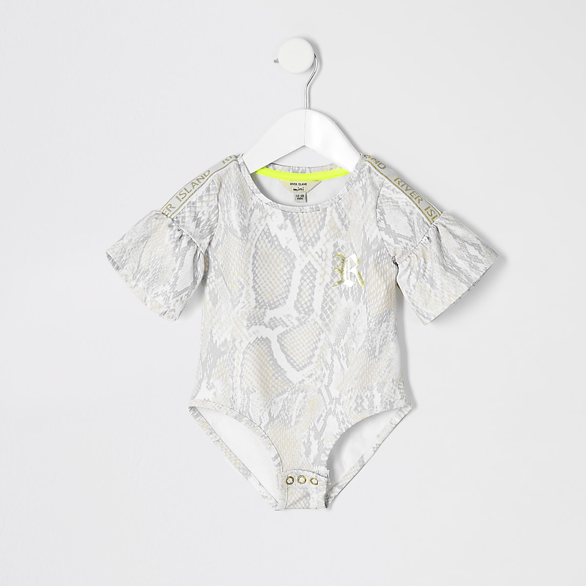Mini girls RI Active beige snake bodysuit