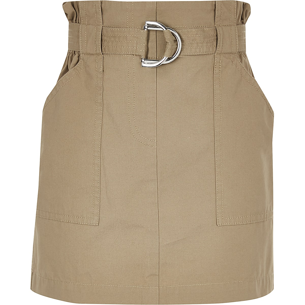 Girls stone paperbag skirt