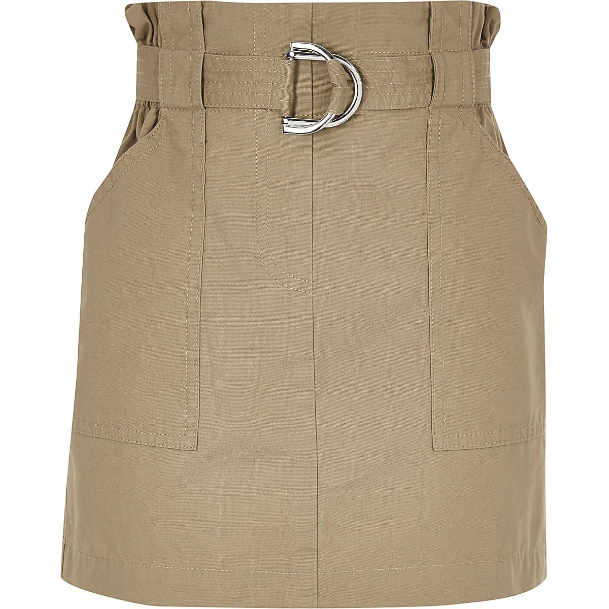 Girls stone paperbag skirt