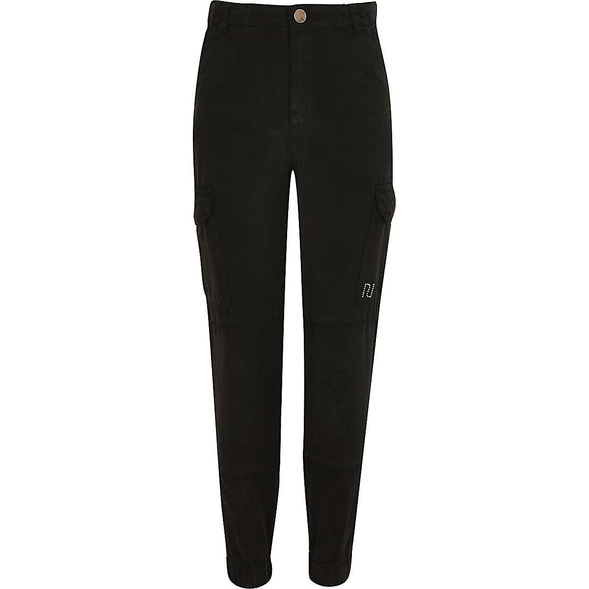 Zwarte utility broek voor meisjes
