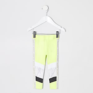 Mini girls RI Active neon green leggings