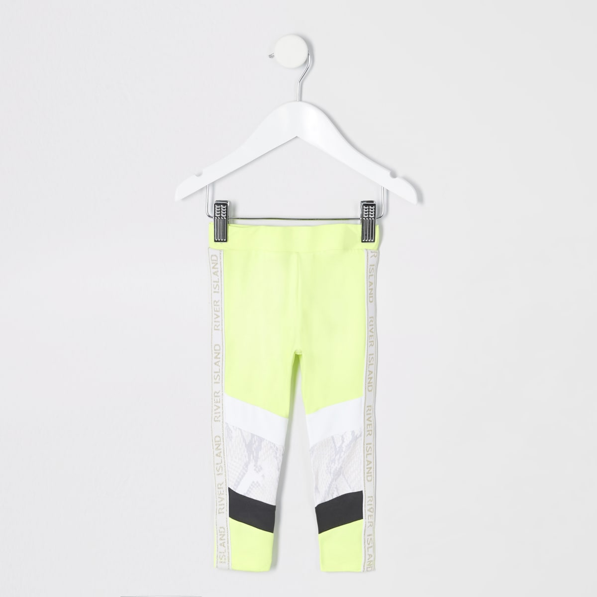 Mini girls RI Active neon green leggings