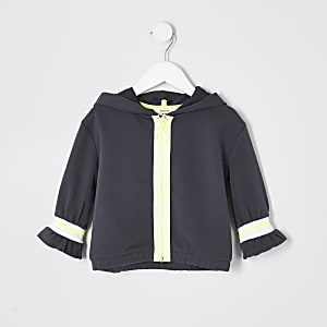RI Active – Sweat à capuche gris zippé mini fille