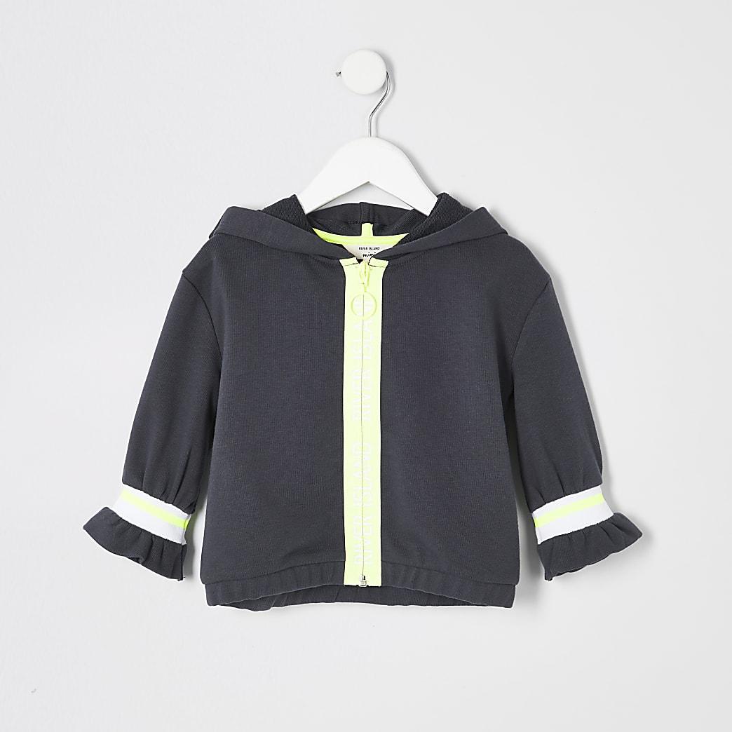 Mini girls RI Active grey zip hoodie