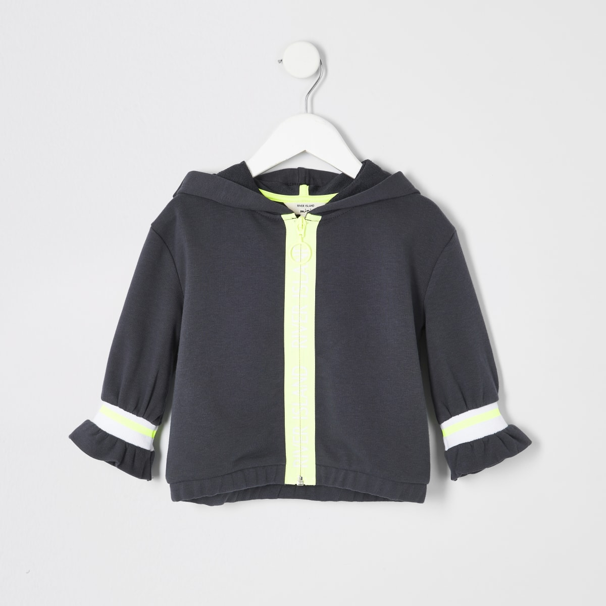 Mini girls RI Active grey zip hoodie