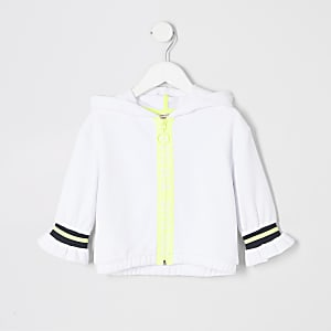RI Active – Sweat à capuche blanc zippé mini fille