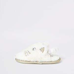 Chaussons chat crèmeMini fille