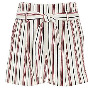 Rode gestreepte short voor meisjes