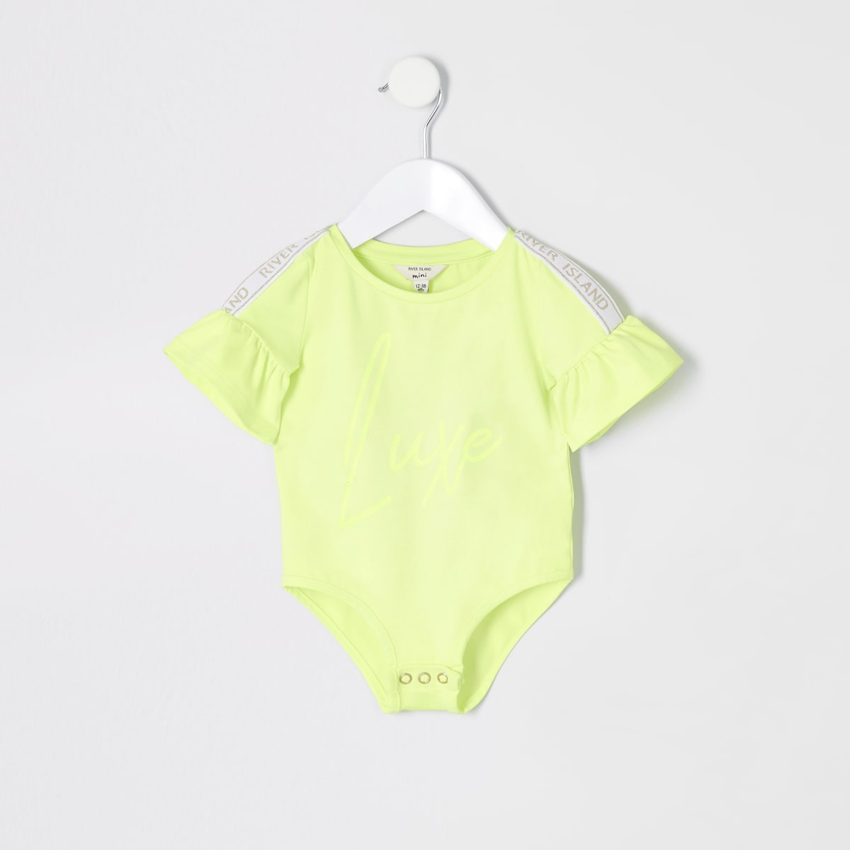 Mini girls RI Active neon green bodysuit