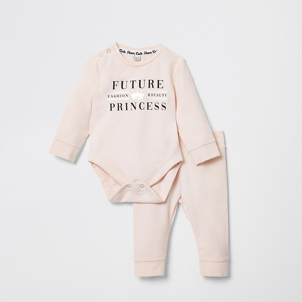 Baby pink 'Future princess' baby grow outfit