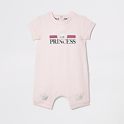 Baby pink 'Princess' romper