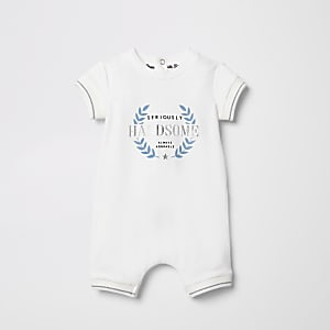Baby cream 'seriously handsome' romper
