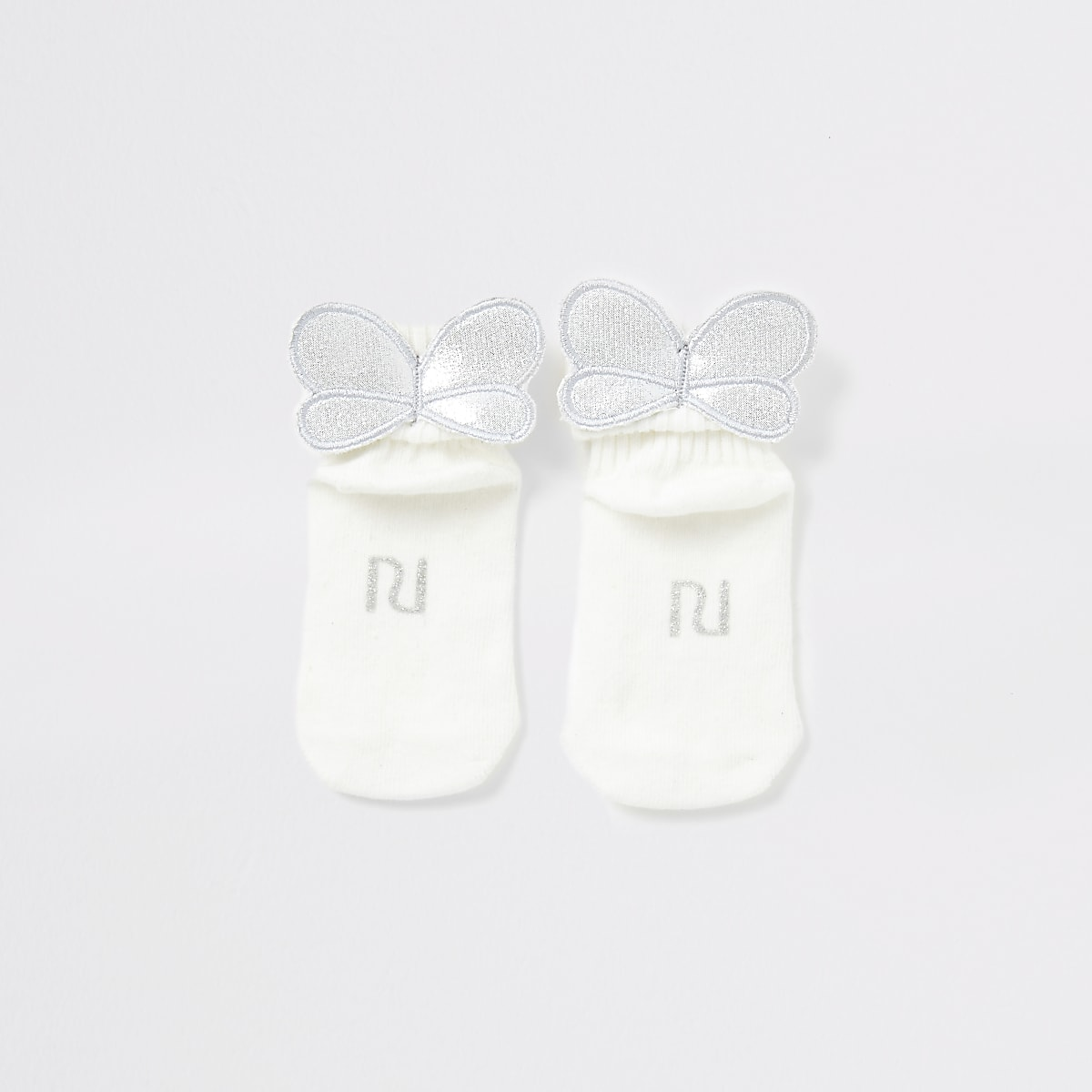 Baby cream bee wing socks