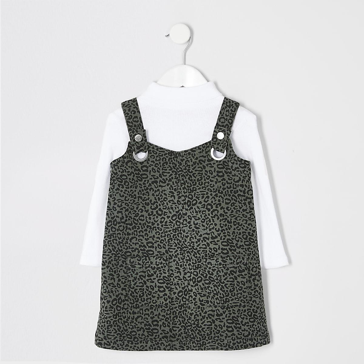 Mini - Set met overgooier met luipaardprint voor meisjes