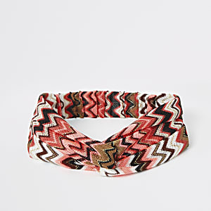 Girls zig zag swim headband
