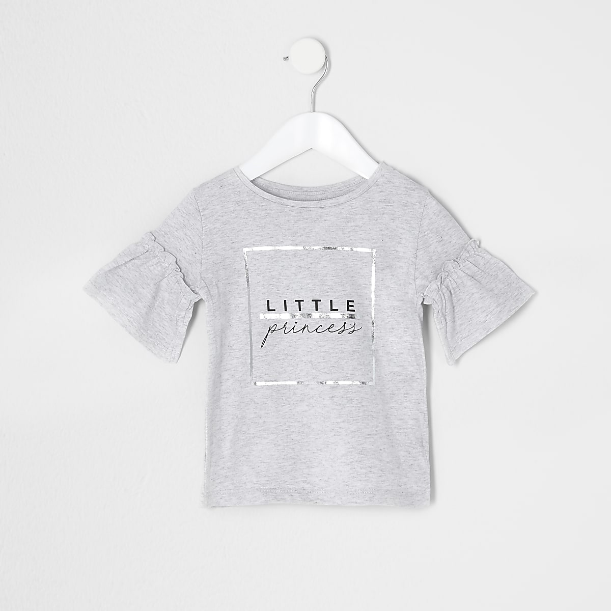 Mini girls grey 'Little princess' T-shirt