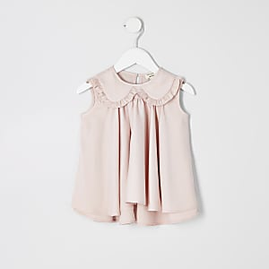 Top trapèze rose mini fille