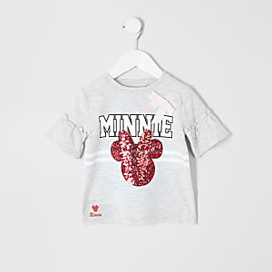 Mini girls grey Disney Minnie Mouse T-shirt