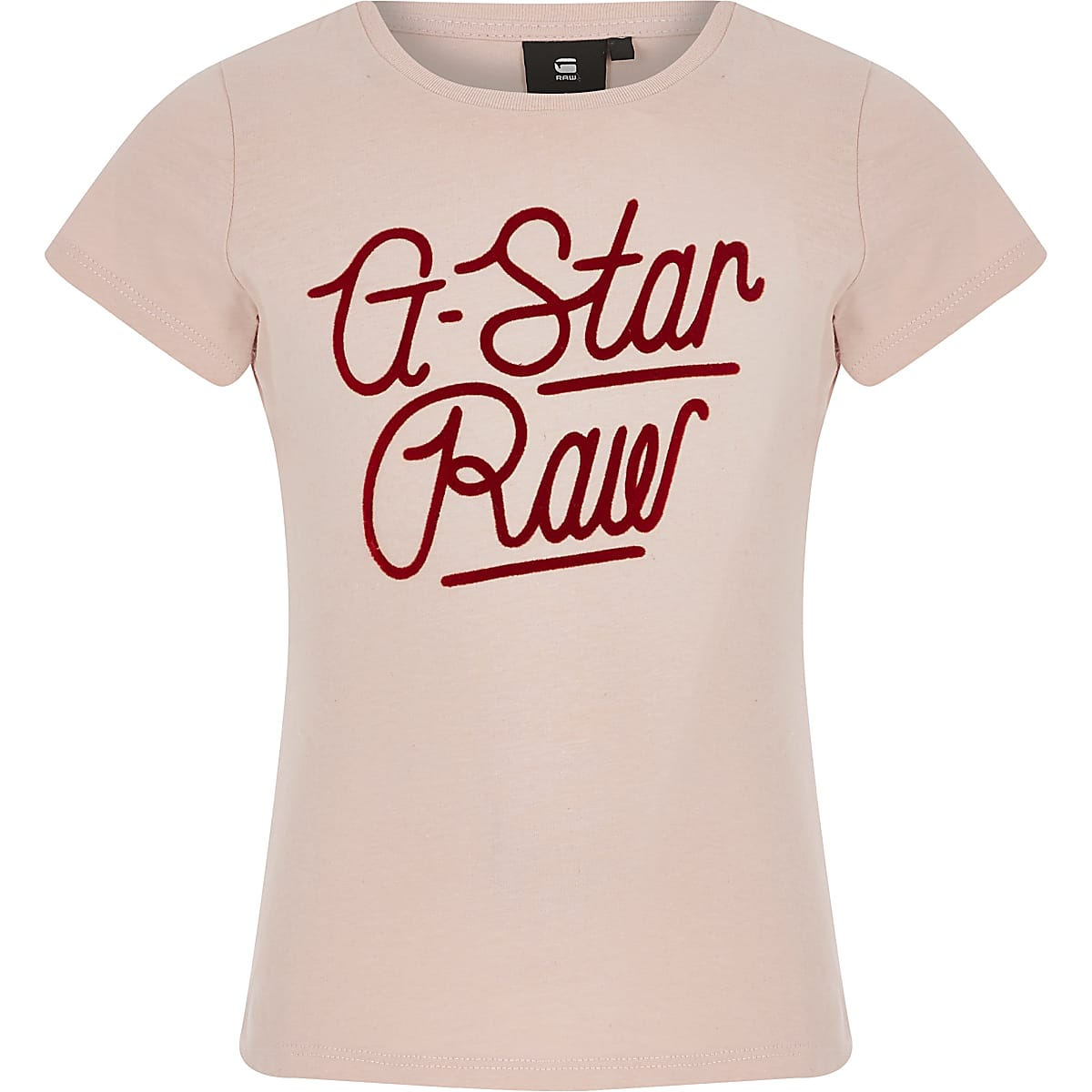 Girls G-Star Raw light pink logo T-shirt