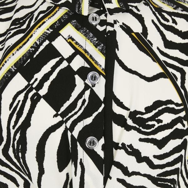 River Island - blusenkleid mit zebraprint - 4