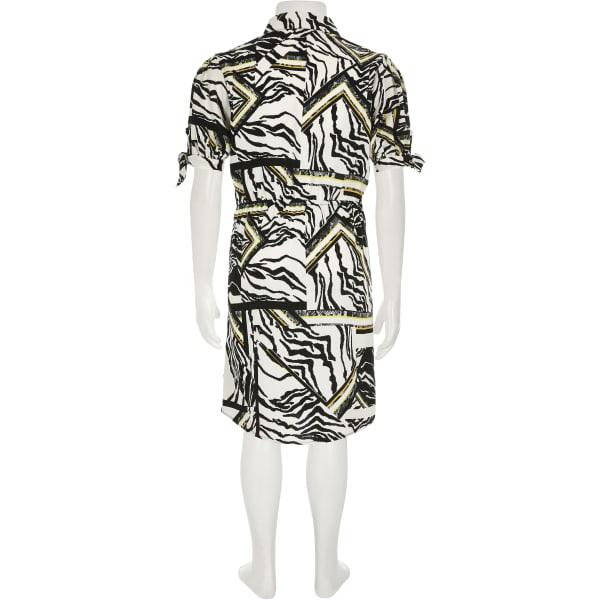River Island - blusenkleid mit zebraprint - 3