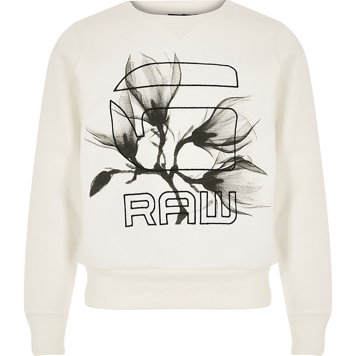 Girls G-Star Raw cream logo sweatshirt