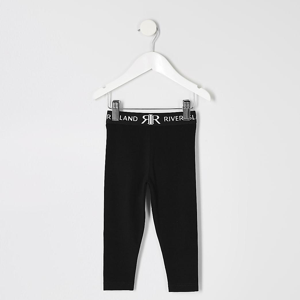 Mini girls black RI leggings