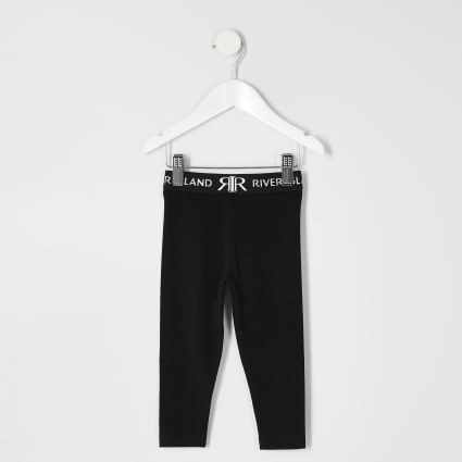 Mini girls black RI leggings