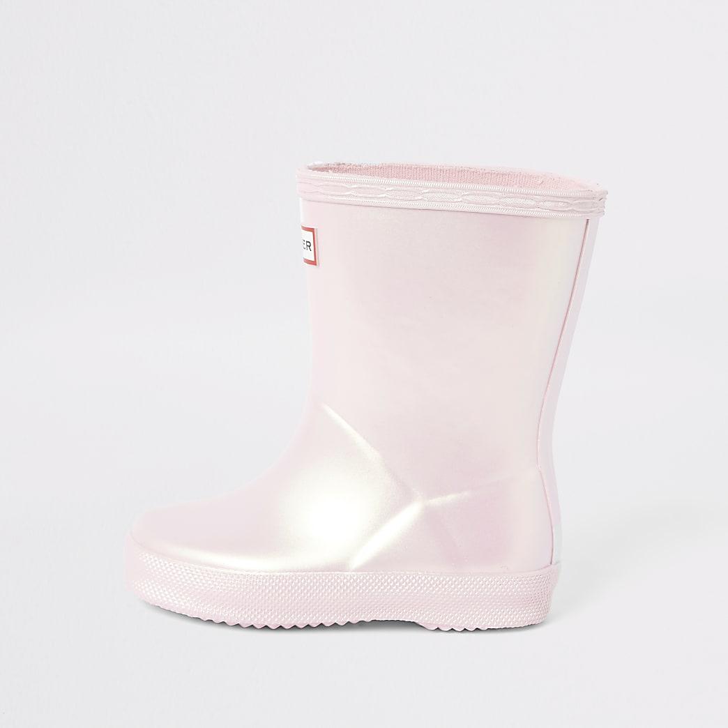 Mini - Hunter Original - Lichroze regenlaarzen voor meisjes
