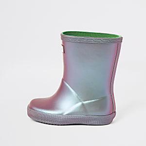 Mini - Hunter Original - Paarse regenlaarzen voor meisjes