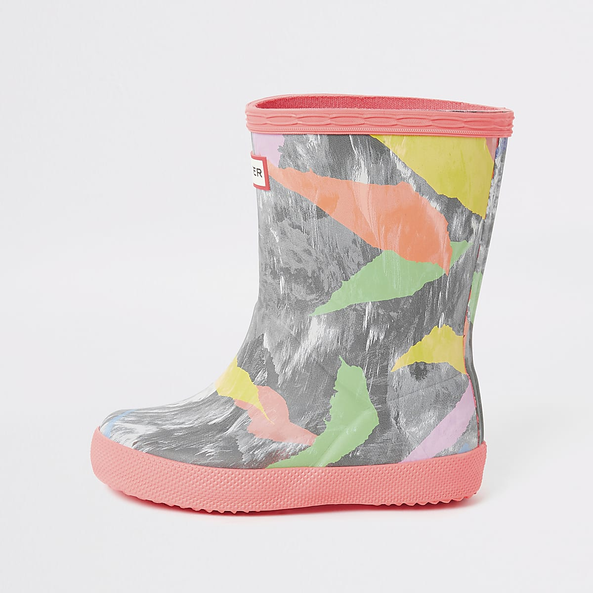 Mini girls Hunter Original printed wellies