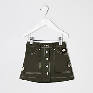 Mini – Rock im Utility-Look in Khaki für Mädchen