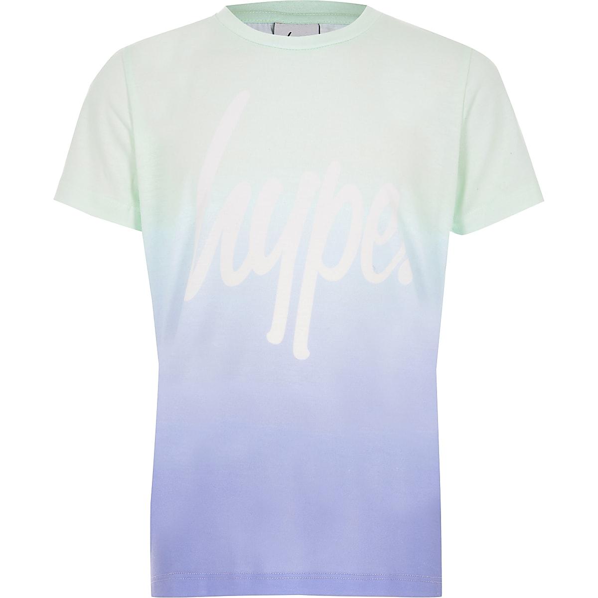 Hype - Blauw vervaagd T-shirt met logo voor meisjes