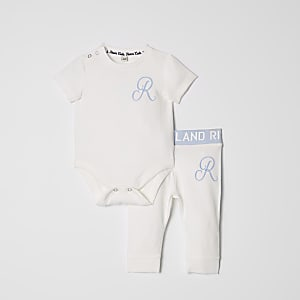 Baby blue RI babygrow outfit