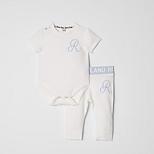 Ensemble avec body bleu à logo RI pour bébé