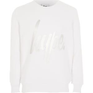 Hype – Weißes, langärmeliges Mädchen-Sweatshirt