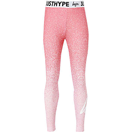 Girls Hype pink speckle fade printed leggings