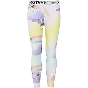 Hype - Roze legging met print voor meisjes