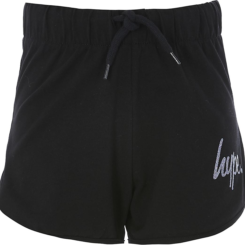 Girls Hype black running shorts