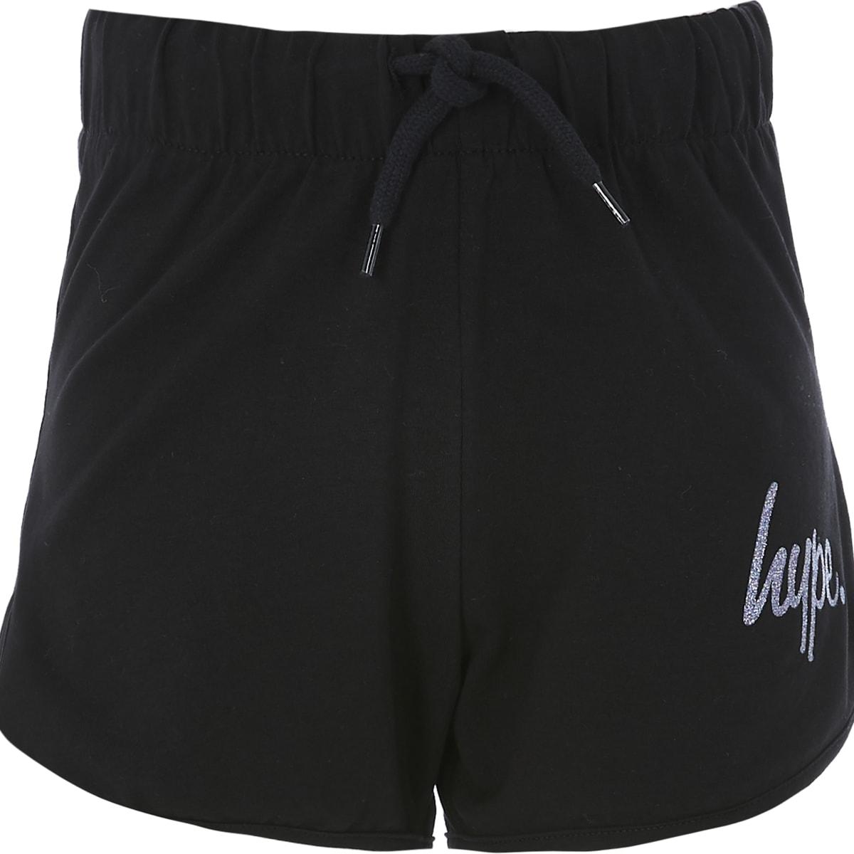 Hype - Zwarte hardloop shorts voor meisjes
