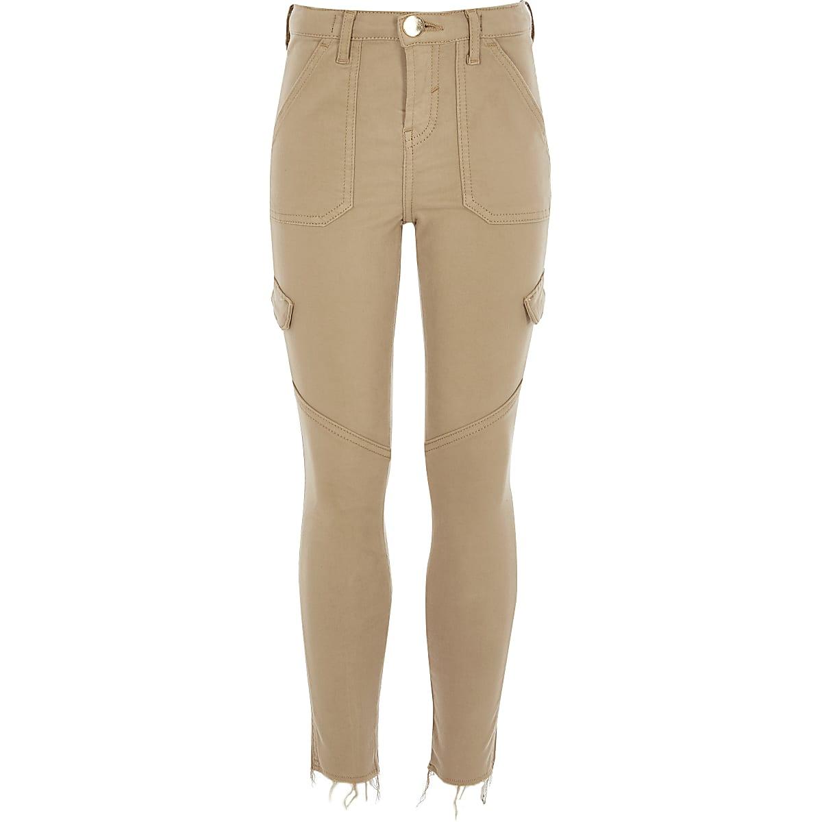 Amelie - Kiezelkleurige skinny jeans voor meisjes
