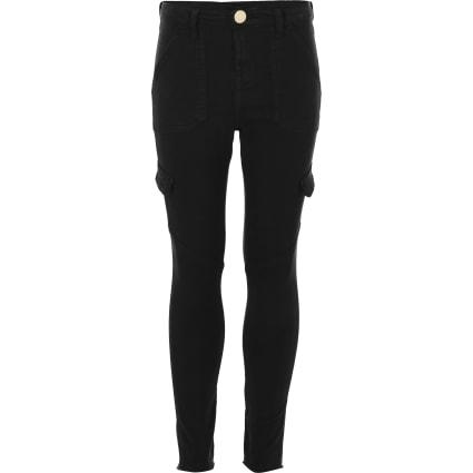 Girls black Amelie skinny jeans